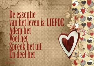 Quote De Essentie Van Het Leven Is Liefde De Heldere Bron